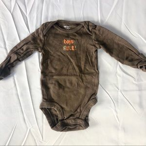 "Carters ""boys rule"" onesie"